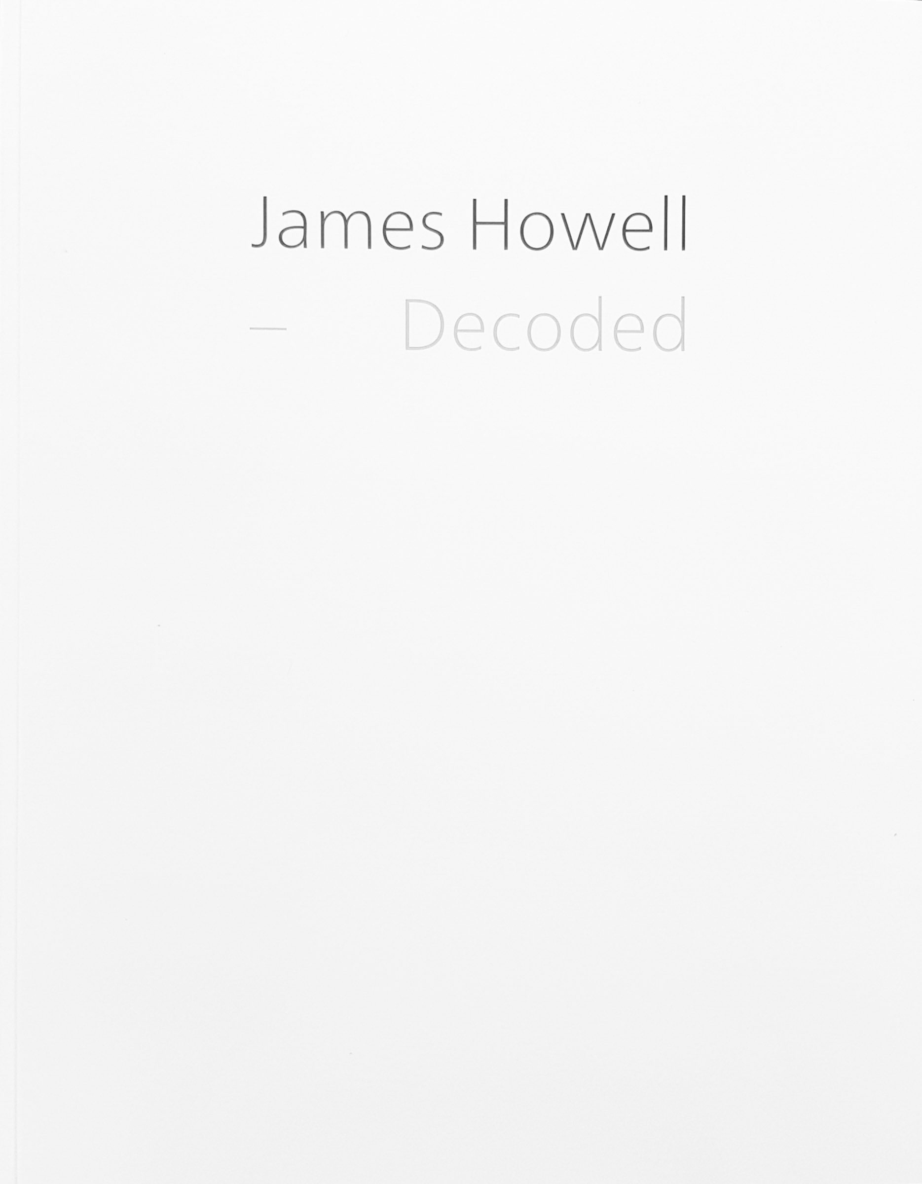 Book no. 7: JAMES HOWELL, Decoded