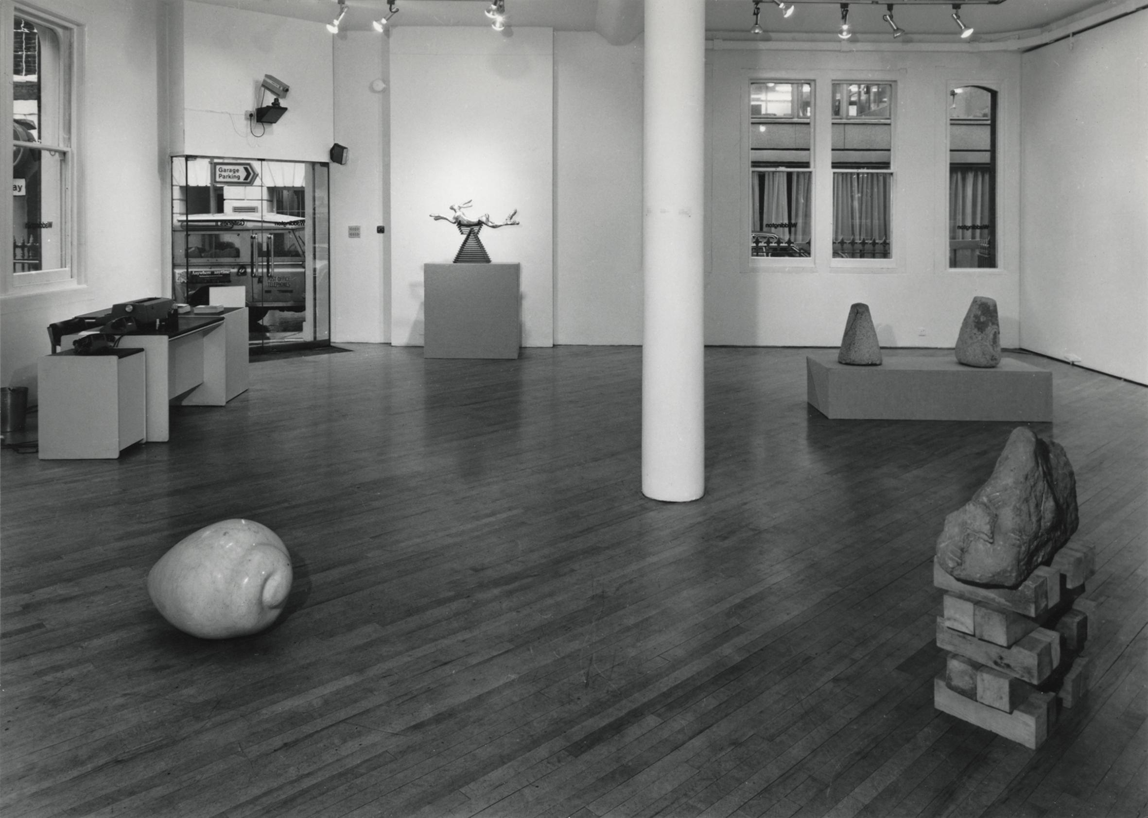 Installation shot, Waddington Galleries 1980, one man show _sculptures in stone 1973 – 1979, image 1