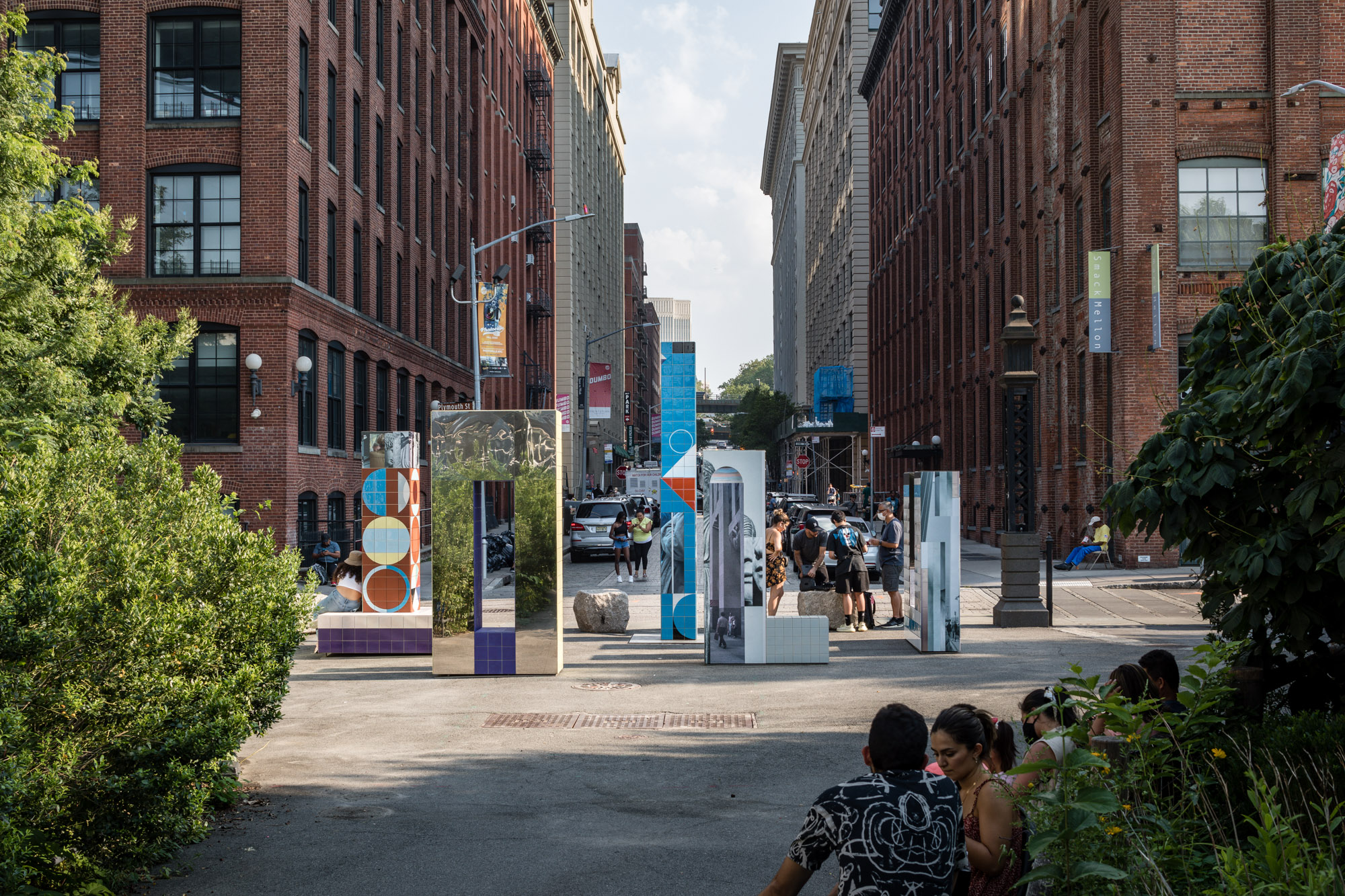 A new work by Claudia Wieser invites the public to become 'actors in their own urban narrative'. Five large-scale sculptures in Brooklyn create a space of contemplation and encounter<br />